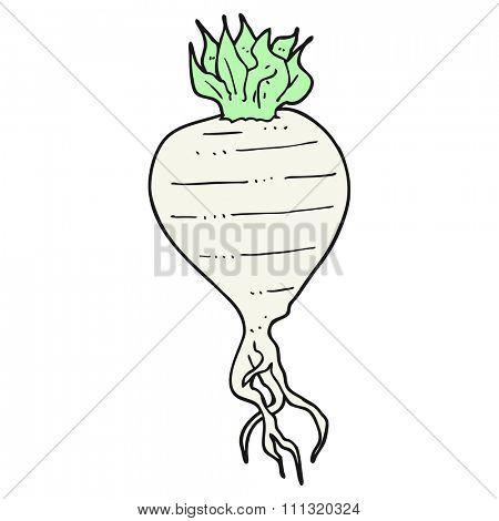 freehand drawn cartoon turnip