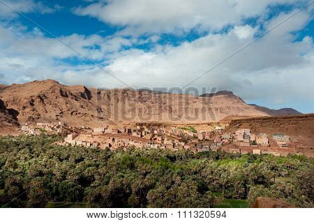 Village in Atlas Mountains, Morocco.