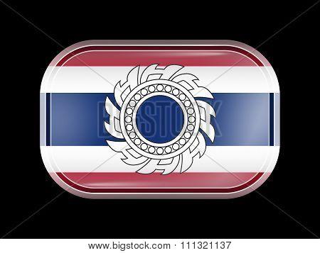 Thailand Variant Flag. Rectangular Shape With Rounded Corners