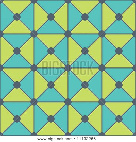 Vector modern seamless colorful geometry triangles dots pattern color blue green abstract