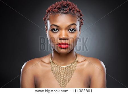 Black Beauty With Short Spiky Hair