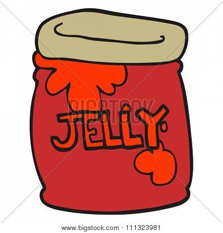freehand drawn cartoon jar of jelly