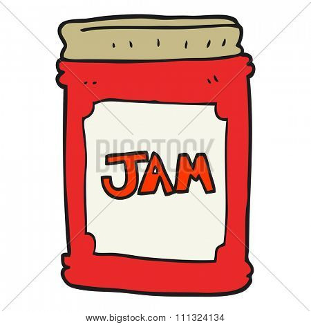 freehand drawn cartoon jam jar