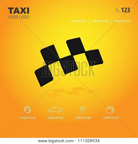 taxi logo and icons for web site