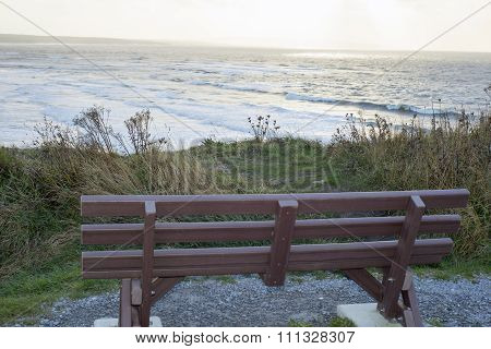 Bench Overlooking The Wild Atlantic Way