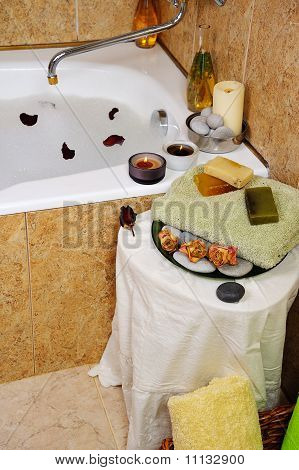 Spa In Home Bathroom
