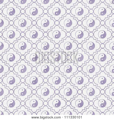 Purple And White Yin Yang Tile Pattern Repeat Background