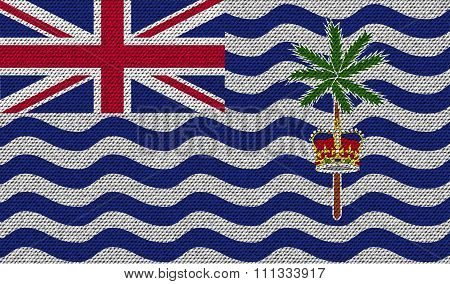Flags British Indian Ocean Territory On Denim Texture.