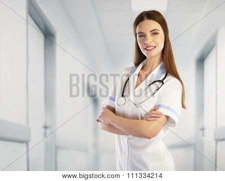 Portrait Of A Doctor In The Hospital