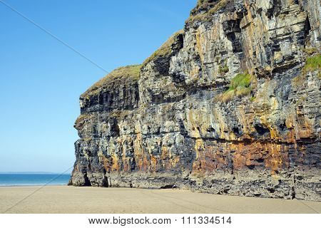 Blue Skies And Sea At Ballybunion Cliffs