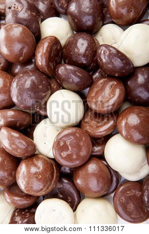 Typical Dutch Sweets: Chocolate Pepernoten (ginger Nuts)