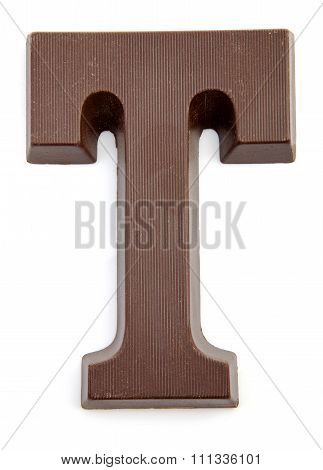 Chocolate Letter T For Sinterklaas