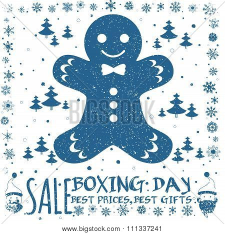 Boxing Day Card.