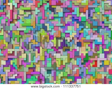 Random Elevated 3D Blocks