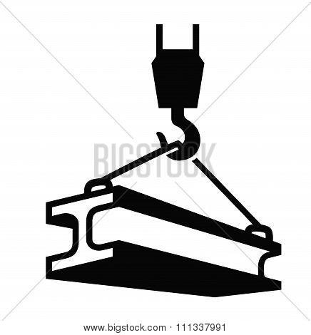 crane hook vector