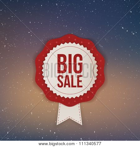 Christmas realistic big Sale Banner with Ribbon