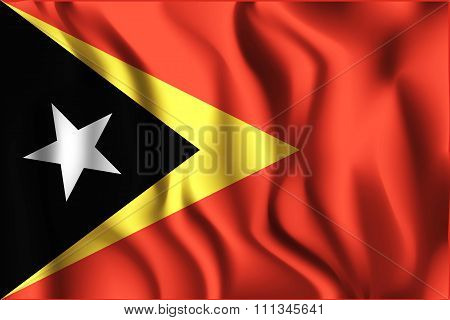 Flag Of East Timor. Rectangular Shape Icon