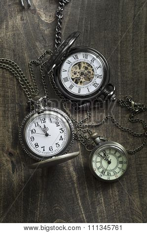 Pocket Watches From Above