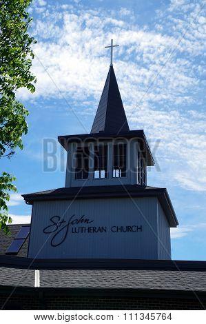 Steeple of the Saint John Lutheran Church