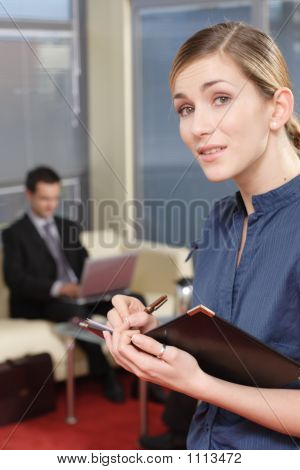 Business Man And Woman In The Office Part 1