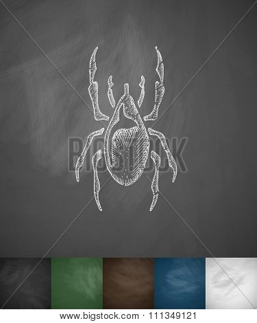 mite icon. Hand drawn vector illustration
