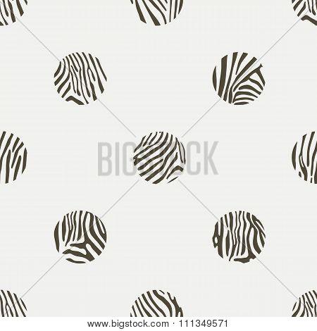 Polka dots background of zebra pattern