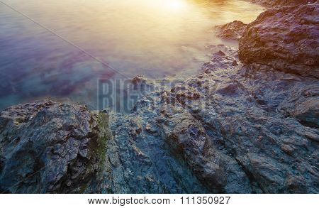 Seascape During Sunset