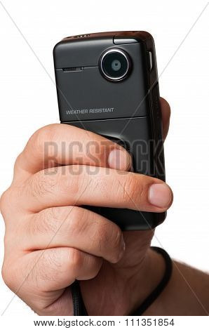 Close-up Of A Mini Video Camera.