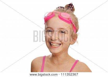 Girl  In  Swimming Costume
