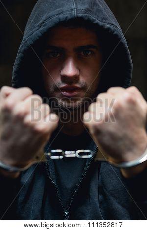 Cyber Warrior In Handcuffs