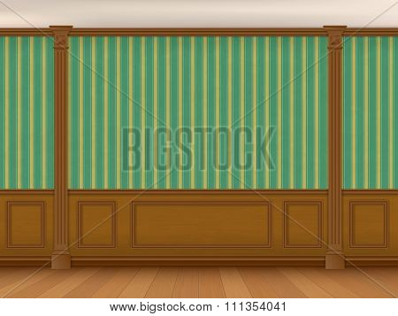 Fragment Of The Interior Cabinet In A Classic Style