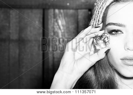 Woman With Precius Gem
