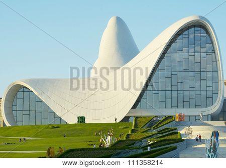 Baku- May 16: Heydar Aliyev Center On May 16, 2015 In Baku, Azerbaijan. Heydar Aliyev Center Won The