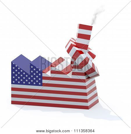 American Factory With Chimney Knotted