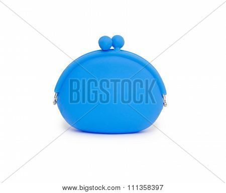 Silicone Coin Purse Isolated Over White