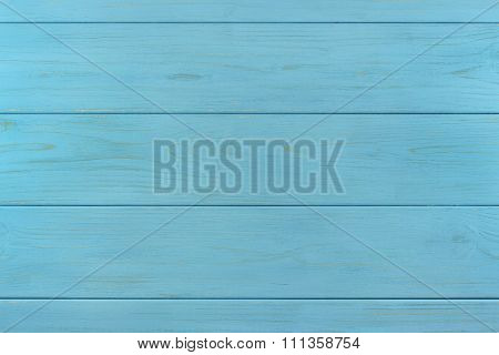 Azure wooden painted boards assembled like background