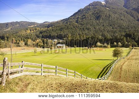 Picturesque Farm In Foothills Of Austrian Alps