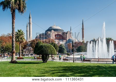 Hagia Sophia on sunny day, Istanbul,Turkey