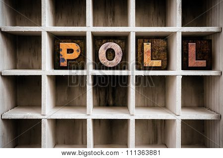 Poll Concept Wooden Letterpress Type In Drawer