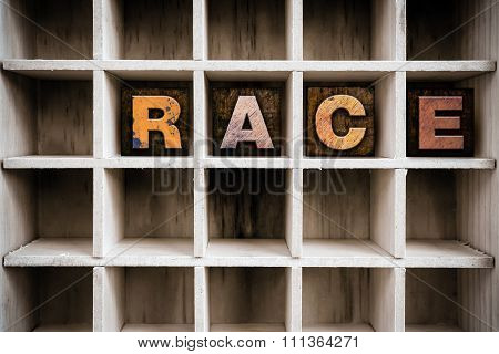 Race Concept Wooden Letterpress Type In Drawer