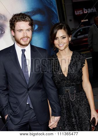Richard Madden and Jenna-Louise Coleman at the Season 3 Premiere of HBO's