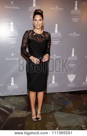 Daisy Fuentes at the Rodeo Drive Committee Inducts Catherine Martin Into The Rodeo Drive Walk Of Style held at the Greystone Mansion in Los Angeles on February 28, 2014 in Los Angeles.