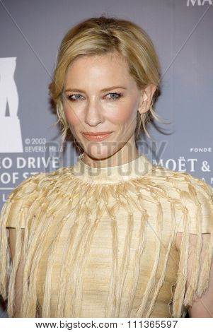 Cate Blanchett at the Rodeo Drive Committee Inducts Catherine Martin Into The Rodeo Drive Walk Of Style held at the Greystone Mansion in Los Angeles on February 28, 2014 in Los Angeles, California.