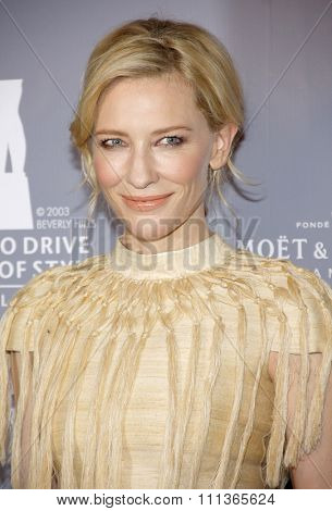 Cate Blanchett at the Rodeo Drive Committee Inducts Catherine Martin Into The Rodeo Drive Walk Of Style held at the Greystone Mansion in Los Angeles on February 28, 2014 in Los Angeles.
