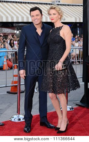 Charlize Theron and Seth MacFarlane at the Los Angeles premiere of