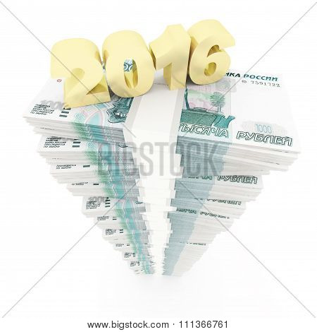 New year 2016 and Russian Rubles