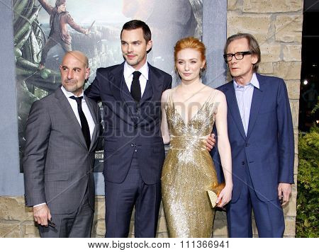 Stanley Tucci, Nicholas Hoult, Eleanor Tomlinson and Bill Nighy at the Los Angeles Premiere of