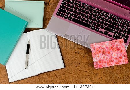 Laptop And Diaries