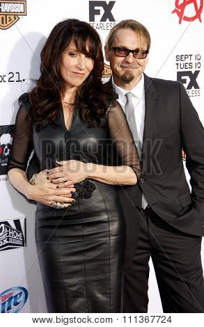 Katey Sagal and Kurt Sutter at the FX's Season 6 Premiere Screening of