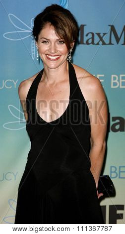 Amy Brenneman attends Women In Film Presents The 2007 Crystal and Lucy Awards held at the Beverly Hilton Hotel in Beverly Hills, California, California, on June 14, 2006.
